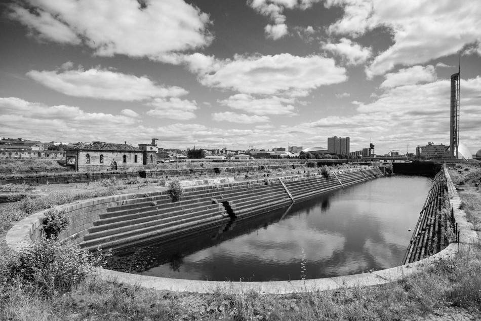 Black and White Photograph of Govan Graving Docks